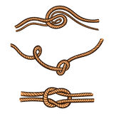 Hand Drawn Rope Royalty Free Stock Photography