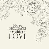 Hand drawn roses. Royalty Free Stock Images