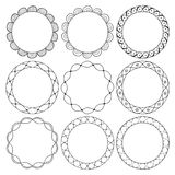 Hand drawn round frames, circle ornaments Royalty Free Stock Image