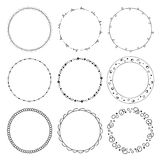 Hand drawn round frames, circle ornaments Stock Image