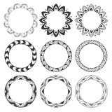 Hand drawn round frames, circle ornaments Stock Photography