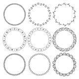 Hand drawn round frames, circle ornaments Stock Image