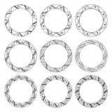 Hand drawn round frames, circle ornaments Royalty Free Stock Photos