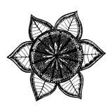 Hand drawn round mandala symbol. Ornate vector Royalty Free Stock Images