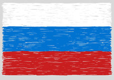 Hand drawn Russian flag Royalty Free Stock Images