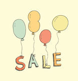 Hand drawn sale illustration Stock Images