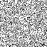 Hand drawn sale shopping seamless pattern Royalty Free Stock Image