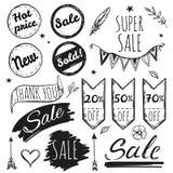 Hand Drawn Sale Tag Set Royalty Free Stock Photo