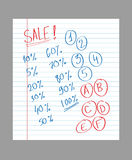 Hand drawn sale text Stock Images