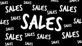 Hand-drawn sales text Royalty Free Stock Photo