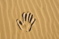 Hand drawn in the sand Royalty Free Stock Image