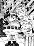 Hand Drawn Santa Royalty Free Stock Images