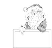 Hand drawn Santa Claus Royalty Free Stock Images