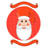 Hand drawn Santa Claus head vector Royalty Free Stock Images