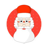 Hand drawn Santa Claus head vector Stock Photography