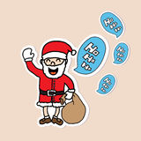 Hand drawn Santa Claus Stock Image