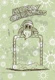 Hand Drawn Santa's Panel doodle sketch Royalty Free Stock Image
