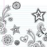Hand-Drawn Schetsmatig terug naar de Krabbels van de School royalty-vrije illustratie