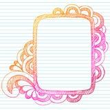 Hand-Drawn Schetsmatige Frame van de Krabbel Stock Afbeeldingen