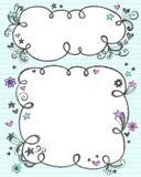 Hand-Drawn Schetsmatige Frames van de Wolk van de Krabbel Royalty-vrije Stock Afbeelding