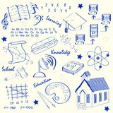 Hand Drawn School Icon Set Stock Photo