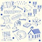 Hand Drawn School Icon Set