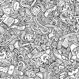 Hand drawn school seamless pattern Royalty Free Stock Image