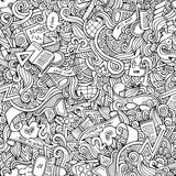 Hand drawn school seamless pattern Stock Image