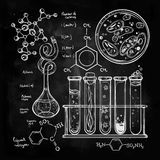 Hand drawn science  lab icons sketch set . Stock Photography
