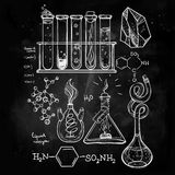 Hand drawn science  lab icons sketch set . Stock Photo
