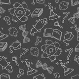 Hand Drawn Science seamless pattern Royalty Free Stock Photos