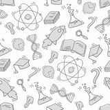 Hand Drawn Science seamless pattern Stock Photos
