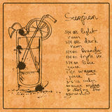Hand Drawn Scorpion Cocktail Stock Photography