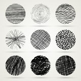 Hand drawn scribble circles template Stock Photography