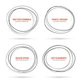 Hand drawn scribble circles template. Vector Stock Photo