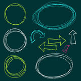 Hand Drawn Scribble Circles. Vector design elements Royalty Free Stock Photography