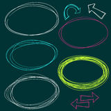 Hand Drawn Scribble Circles. Vector design elements Royalty Free Stock Photos