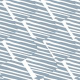 Hand Drawn Scribble Seamless Pattern. Abstract Geometric Striped Shapes Texture Stock Image