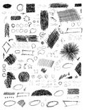 Hand drawn scribble shapes. Stock Photography