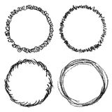 Hand drawn scribble shapes Royalty Free Stock Images
