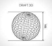 Hand-drawn scribble Sphere. Draft architect concept. Elements for design. Vector illustration. Stock Photo