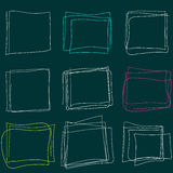 Hand Drawn Scribble Square. Vector design elements Royalty Free Stock Image