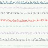 Hand drawn scribbles, calligraphy loops, handwriting, stripes, lines. Back to school vector seamless pattern background. Hand drawn scribbles, calligraphy loops royalty free illustration