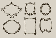 Free Hand Drawn Scroll Frames Stock Photography - 12387812