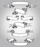 Hand Drawn Scroll Set. Hand Drawn Scroll  Vector Set Stock Image