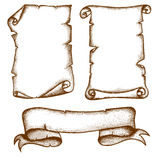 Hand-drawn Scrolls Stock Photo