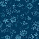 Hand drawn sea theme background Royalty Free Stock Photos