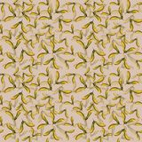 Hand drawn seamlees pattern watercolor winged seeds maple tree isolated in beige background. royalty free illustration