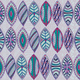 Hand drawn seamless abstract ethnic pattern Royalty Free Stock Photos