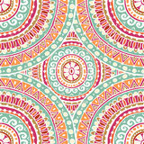 Hand drawn  seamless background in indian style. All objects are conveniently grouped  and are easily editable Royalty Free Stock Photos